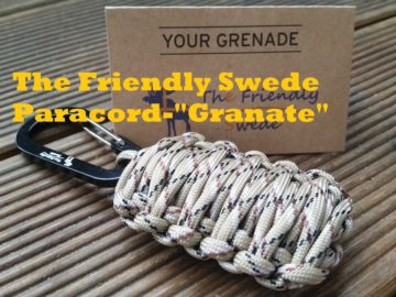 The Friendly Swede Paracord-Granate