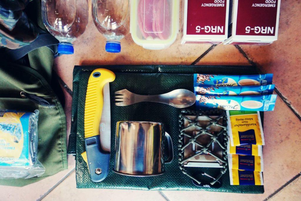 Notfallrucksack für das Auto - Kochausrüstung