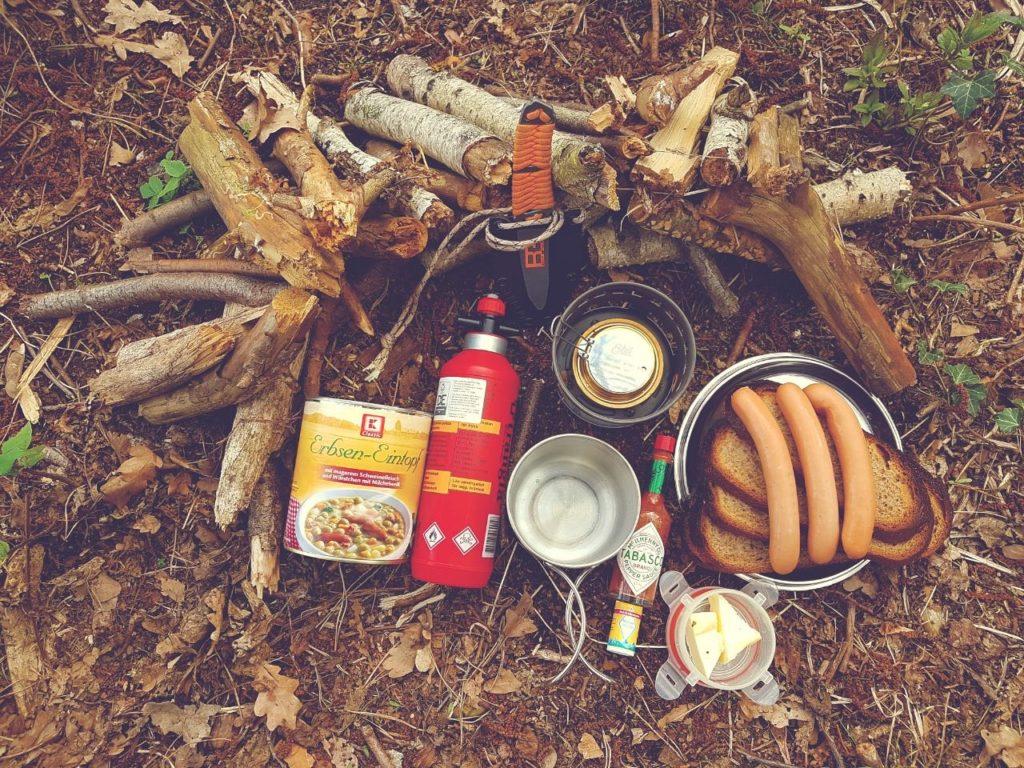 Campingkocher für das Campingzubehör