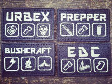 Patches und Aufnäher - Urbex, Bushcraft, Prepper, EDC