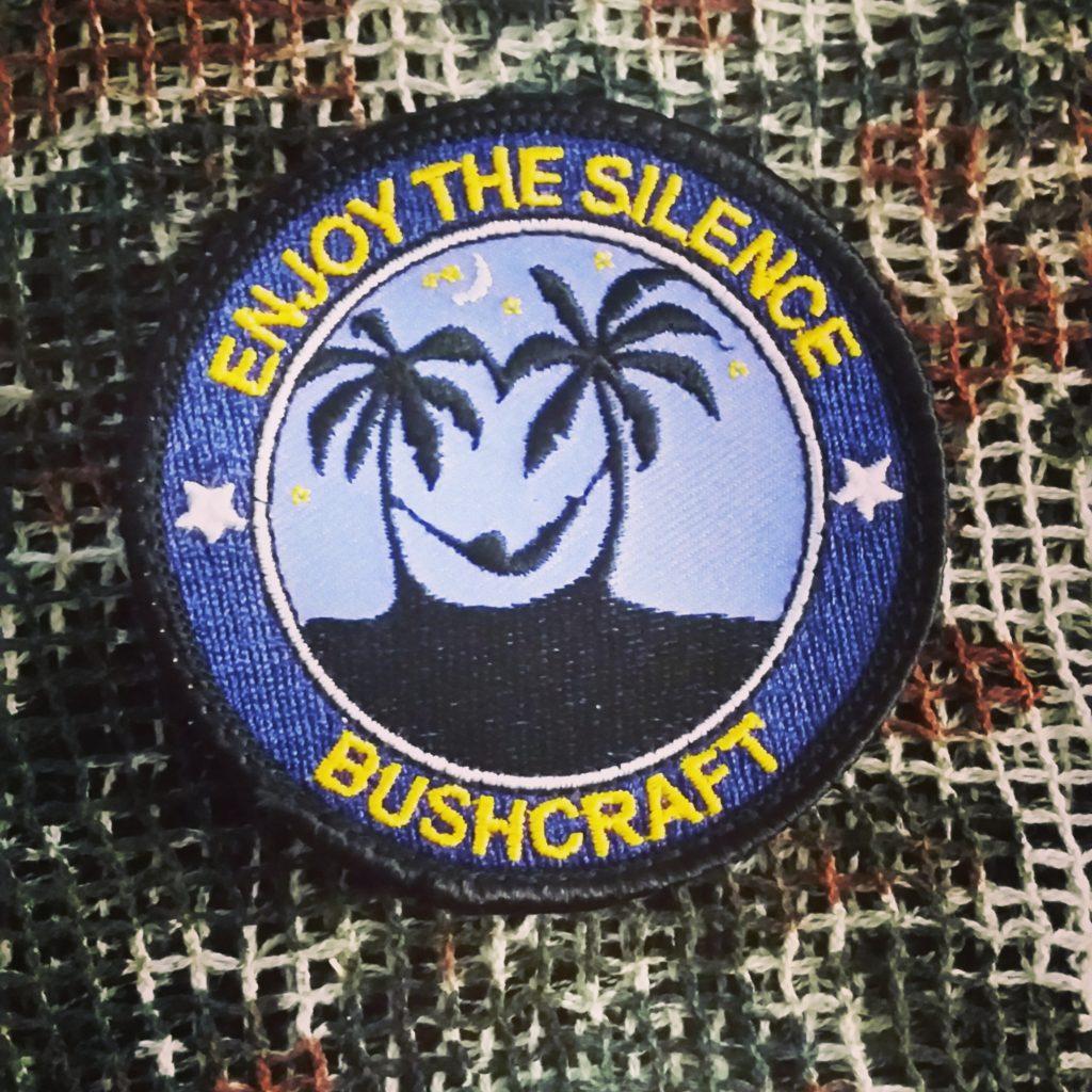 Schlafen in der Hängematte - Bushcraft Patch mit Klett