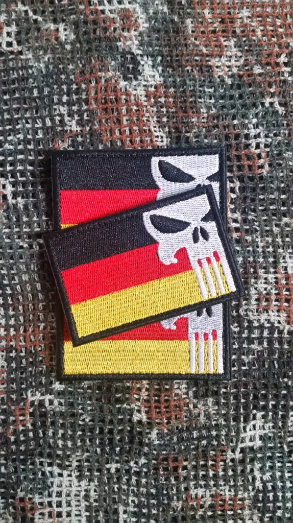 German Punisher Flagge Teampatch Airsoft