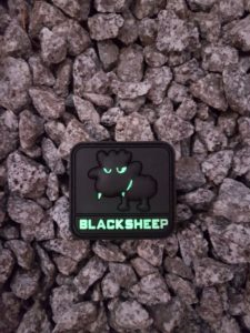 AIRSOFT PATCH – LITTLE BLACKSHEEP, glow in the dark