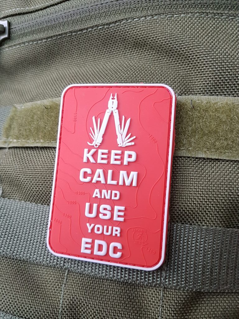 Everyday carry Patches – Keep Calm and use your EDC rot