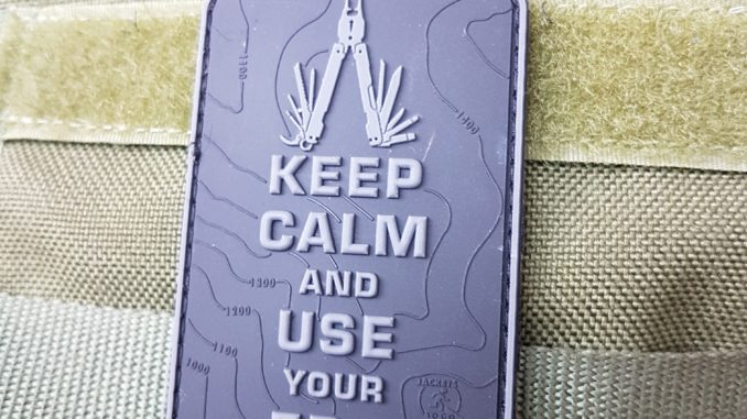 Everyday carry Patches – Keep Calm and use your EDC blackops