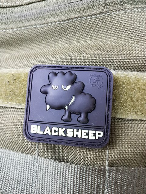 AIRSOFT PATCH – LITTLE BLACKSHEEP, black glow in the dark