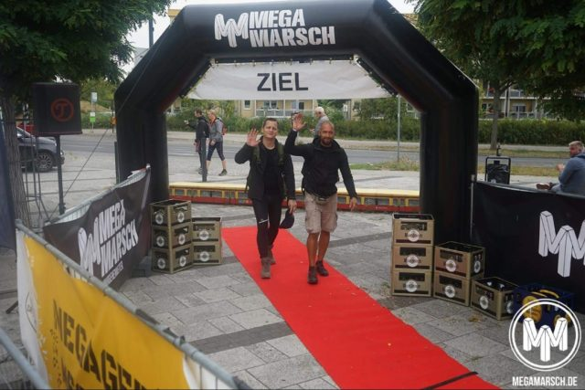 Megamarsch Berlin - unser Zieleinlauf