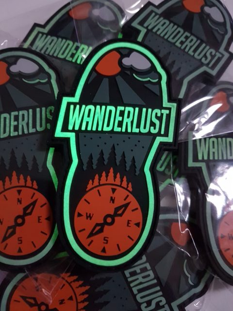 Wanderlust Patch - glow in the dark