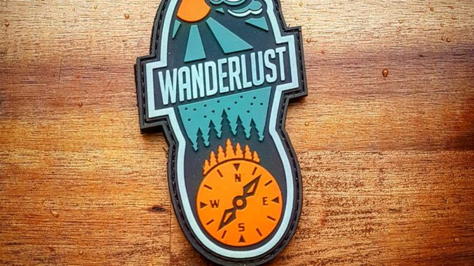 Wanderlust Patch - PVC Version