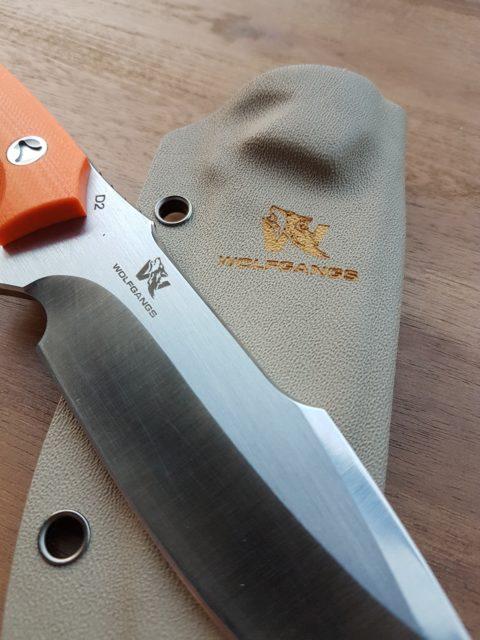 Wolfgangs Outdoormesser - mit G10 Griffschalen und keydexscheide
