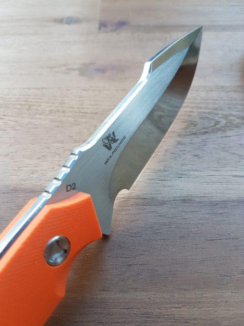 Wolfgangs Outdoormesser - polierte Klinge