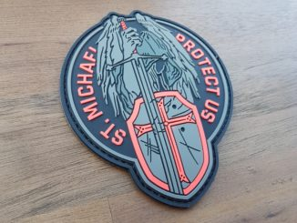 ST. MICHAEL Rubber PATCH - rot