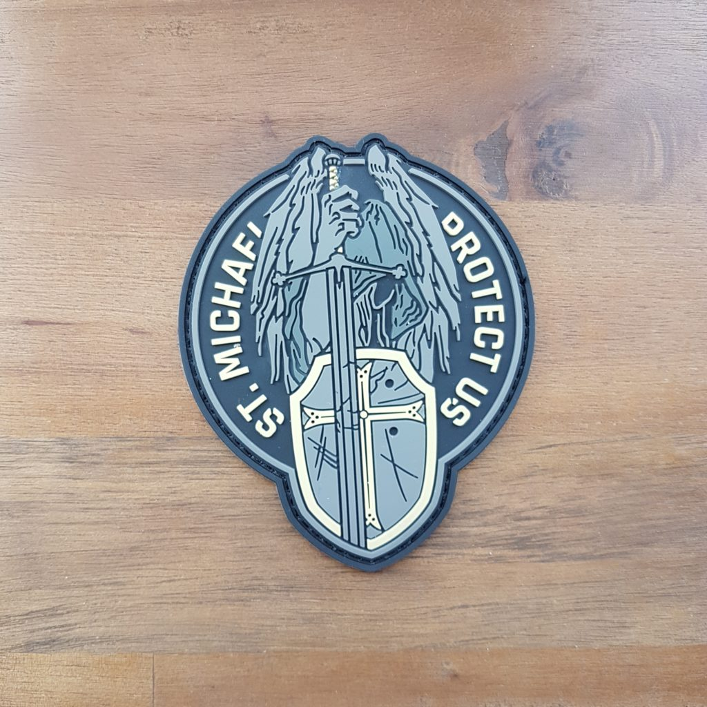 ST. MICHAEL Rubber PATCH - elfenbein